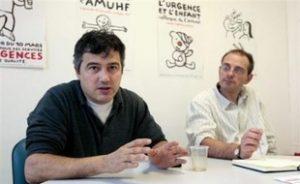 patrick-pelloux-g-regis-garrigue-president-secretaire-general-adjoint-amuf-19-novembre-2008-paris
